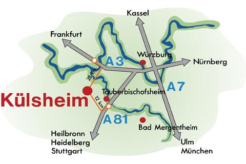 Külsheim - Verkehrsspinne